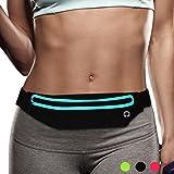 Filoto Running Belt, Water Resistant Running Waist Pack for Women and Men, Fitness Workout Adjustable iPhone Xs Max X 8 7 6 Belt Sport Pouch
