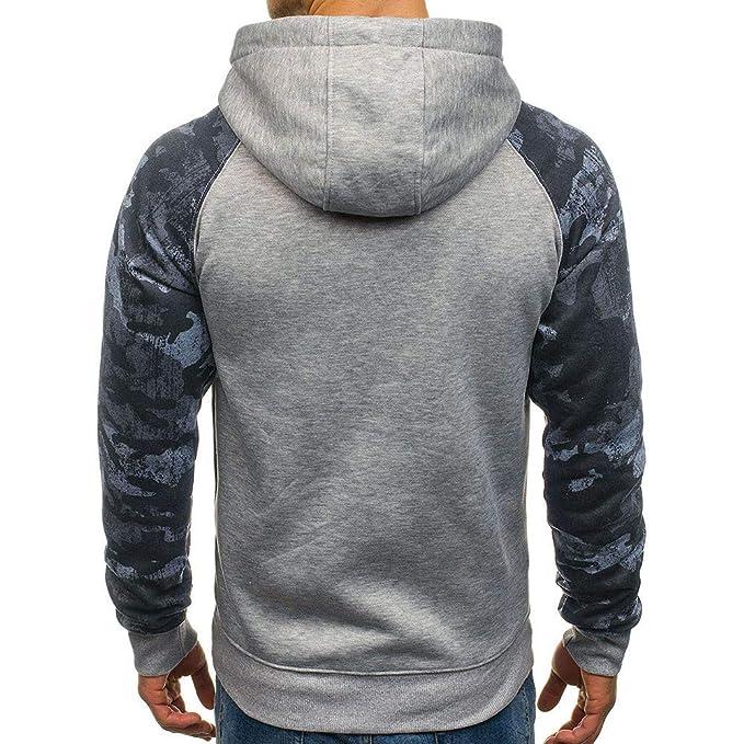 Abrigos Hombre Invierno Largos,JiaMeng Carta Impresa Casual Sudadera con Capucha Outwear Tops Blusa: Amazon.es: Ropa y accesorios