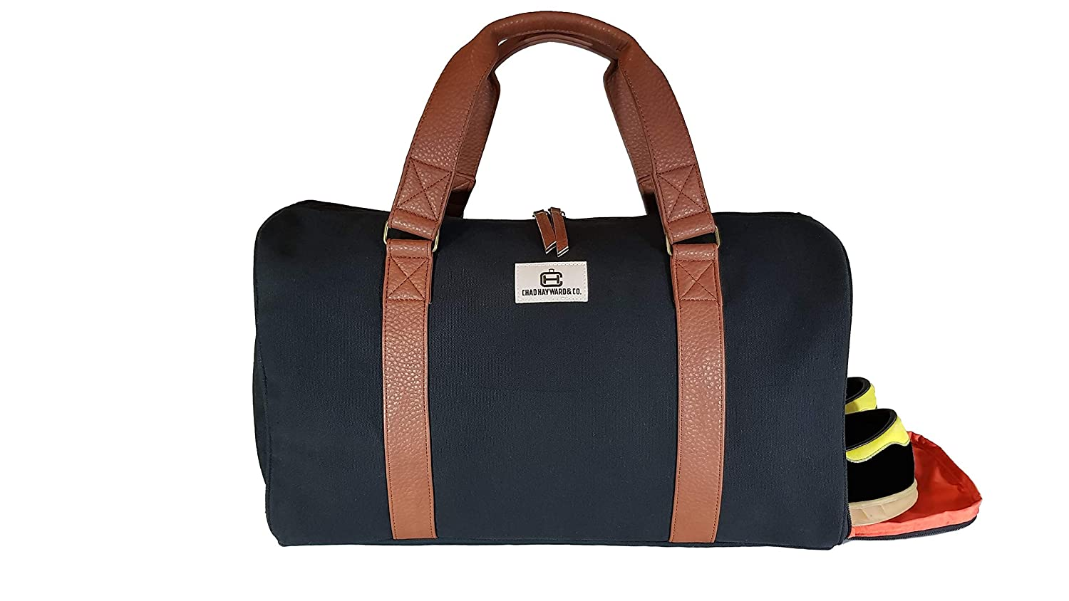 Chad Hayward   Co Adam Sports Duffle Holdall Bag with Shoe Compartment for Travel  Gym Black Canvas 34L  Amazon.co.uk  Sports   Outdoors 71ec3cc2a6c60