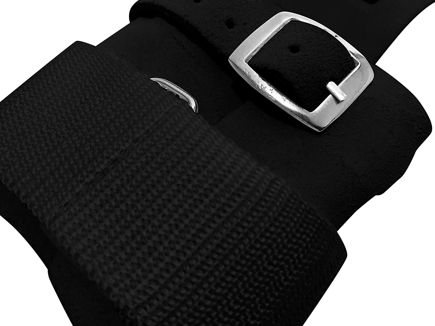 gymadvisor leather MENS RING with combi fastening gymnastic hand guards Senior 2 finger holes