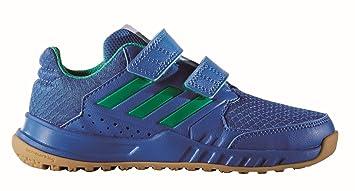timeless design d4144 2ddc2 adidas Kinder Freizeit- Fitness-Schuh FortaGym CF K Klett blau  grün, Größe