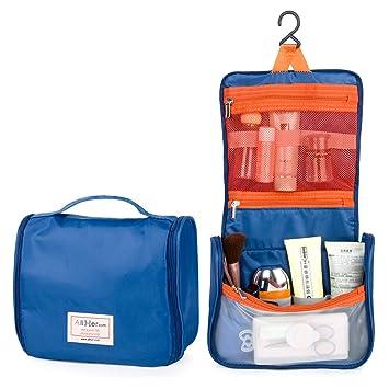 84e9f05aee17 Hanging Toiletry Wash Bag/Makeup Organizer/Cosmetic Bag/Compact Overnight  Travel Kit Organizer for Woman,Girls,Man,Bonus:1pc Travel Packing Cube