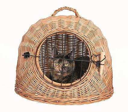 Trixie 2870 Transportín Mimbre Gatos Perro Pequeño, 45 cm: Amazon.es: Productos para mascotas