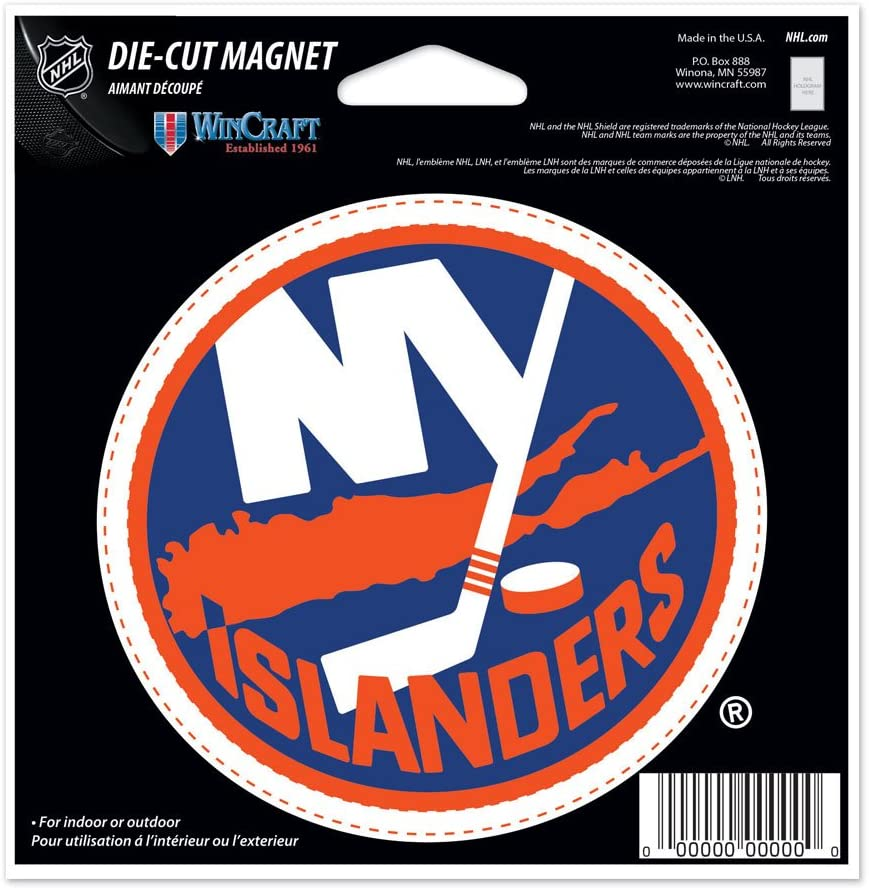"""New York Rangers Official NHL 4.5""""x6"""" Car Magnet by Wincraft"""