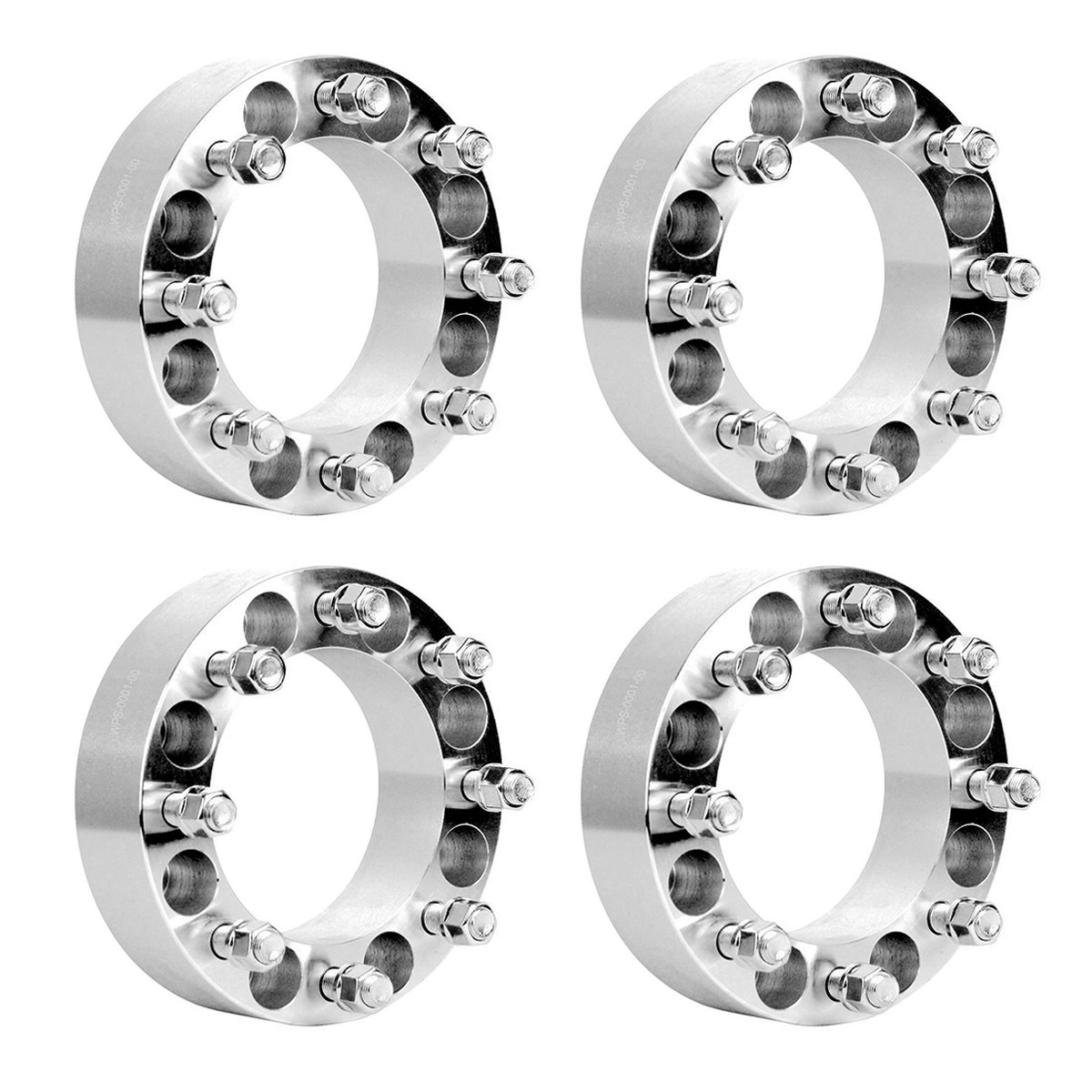 TargetEvo 4pcs 8x6.5 to 8x6.5 (8x165.1mm) 2'' Thickness Wheel Spacers Adapters 9/16'' STUDS for Dodge Ram 2500 Ram 3500 W250 W300