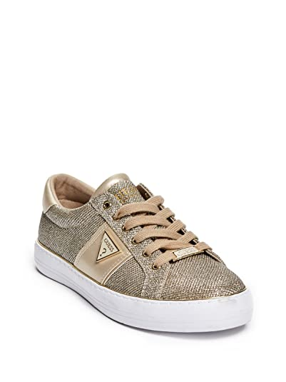 GUESS Factory Women's Gilda Glitter Mesh Low-Top Sneakers