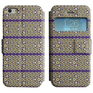 LEOCASE patrón horizontal Funda Carcasa Cuero Tapa Case Para Apple iPhone 5 / 5S No.1003009