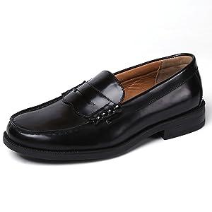 [アラモーダ] メンズ ローファー 学生靴 通勤 通学 撥水加工 軽量 防滑 防臭 820 27.0cm