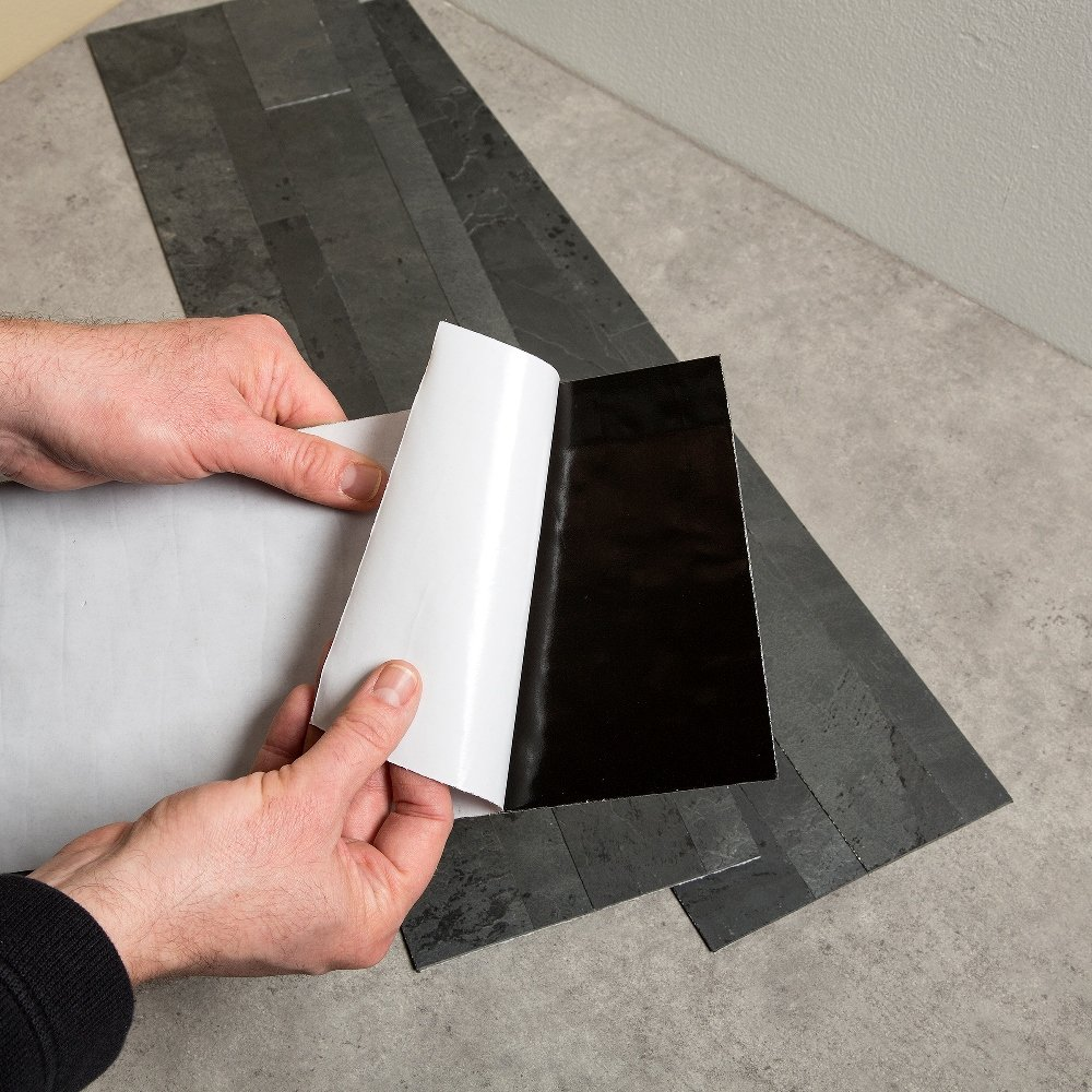 Aspect 6 x 24 inch autumn sandstone peel and stick stone backsplash - Amazon Com Aspect Peel And Stick Stone Overlay Kitchen Backsplash Charcoal Slate 5 9 X 23 6 X 1 8 Panel Approx