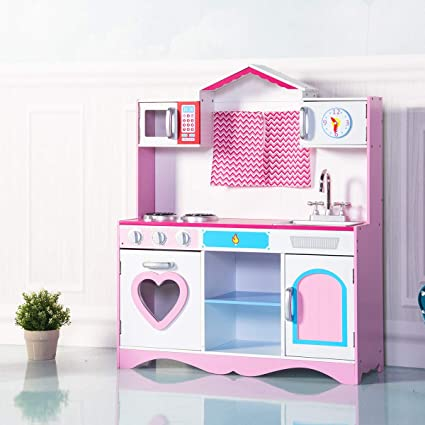 72d2d8000130c GYMAX Large Kids Play Kitchen