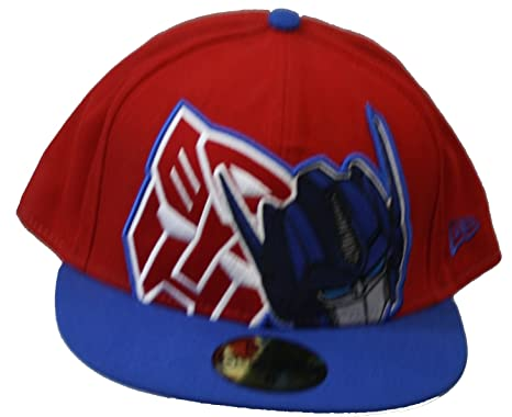 674a0d82 New Era 59Fifty HAT Hero Transformers Autobots HCL Red/Royal Blue Fitted Cap