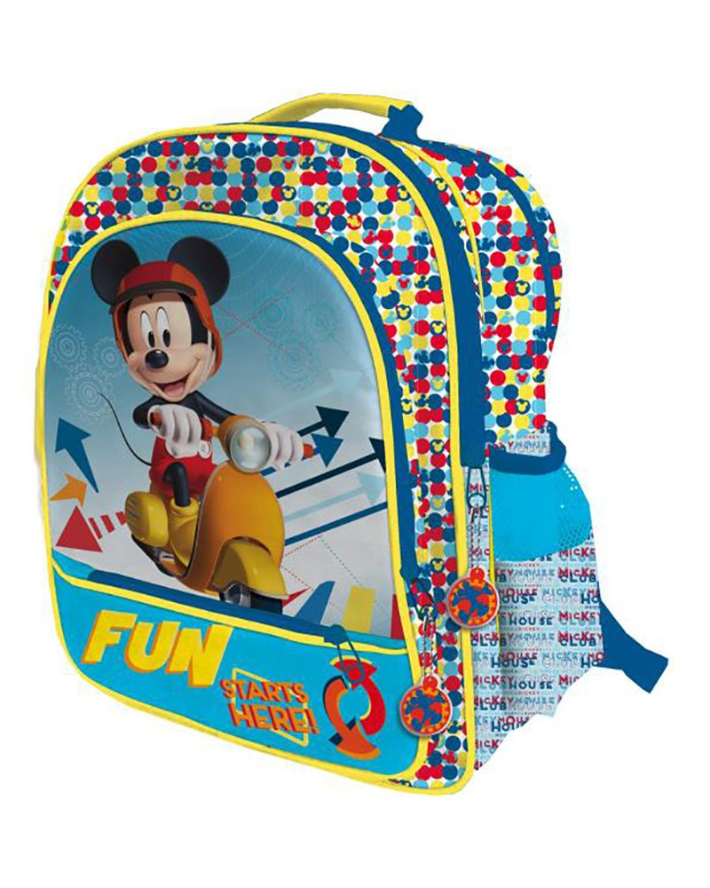 DISNEY MICKEY Mochila con 4 cremalleras adaptable a carro trolley: Amazon.es: Equipaje