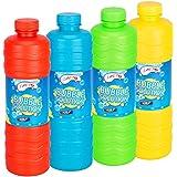 Laeto Toys & Games Giant Bottiglia da 1Litri di Liquido Bubble Solution with Wand Divertimento con Bambini Ideale per Bolle Mitragliatrice soffiatore o Grande Top Up