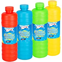 Laeto Toys & Games Giant 1 Liter Bottle of Bubble Solution Liquid with Wand Great Fun with Kids Ideal for Bubbles Machine Gun Blower or Large Top Up