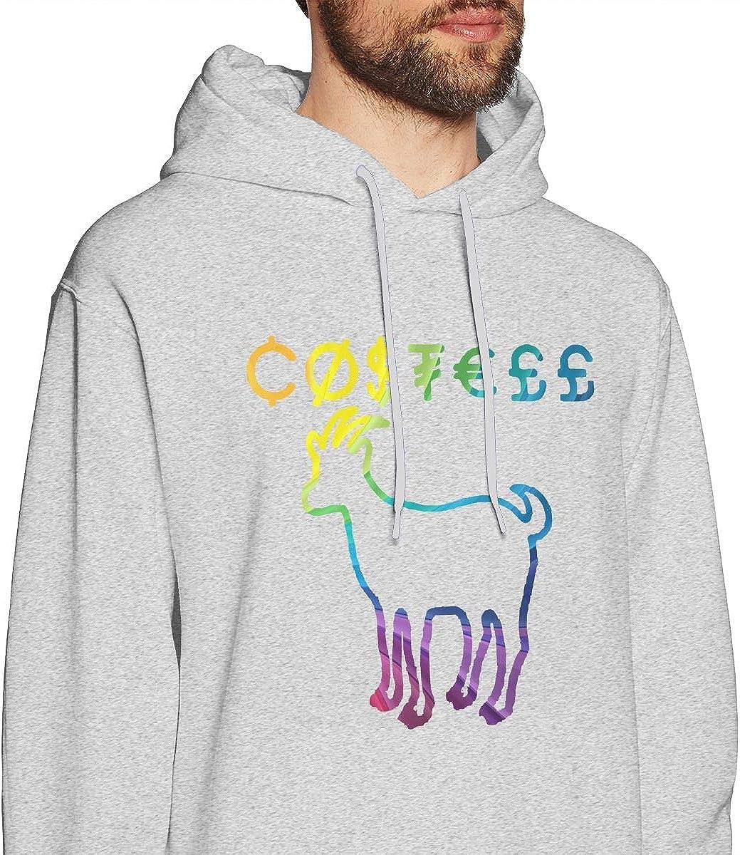 Patricia FordT Mens Winter Hooded Pocketless Sweatshirt Loose Erika Costell Logo White