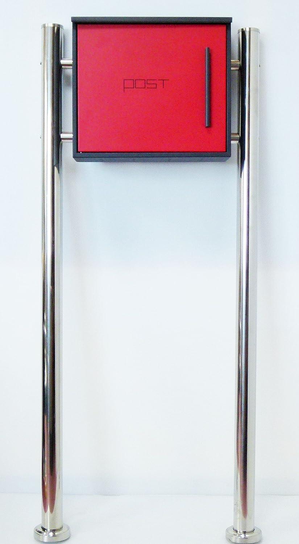 郵便ポスト郵便受け北欧風メールボックススタンド型マグネット付きレッド赤色ポストpm203s B01MRLNXM6 18880