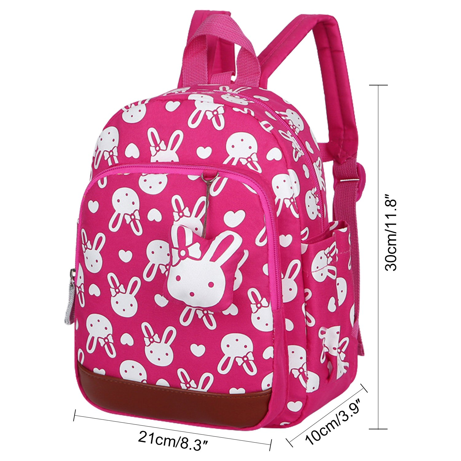 dfe69163e3 Amazon.com  Vox Small Backpack for Kids Baby Girls with Safety Harness