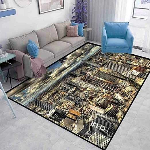 Amazon Com Urban Children S Playroom Non Slip Living Room Carpet Melbourne City Australia Carpets For Home Living Room Bedroom Kitchen Mats Carpet Protector For Desk Chair W2 X L3 Feet Kitchen Dining