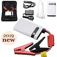 Uhmhome Mini arrancador de coche 400 A pico 20000 mAh, 12 V Auto batería arrancador cargador de batería portátil para coches, camión, SUV con USB de carga rápida