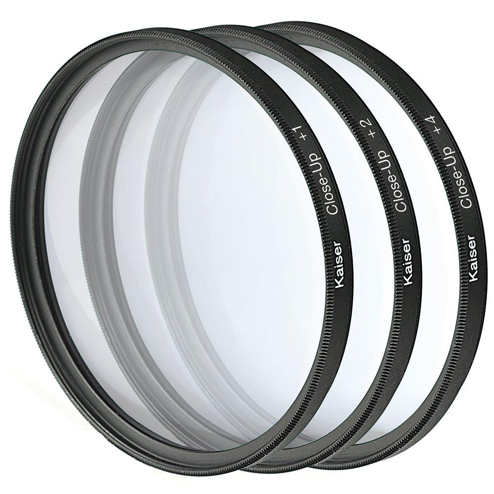 Kaiser Fototechnikクローズアップレンズセット77 mmクローズアップレンズ+ 1 / + 2 / + 4収納袋付き B00PC6M0CI