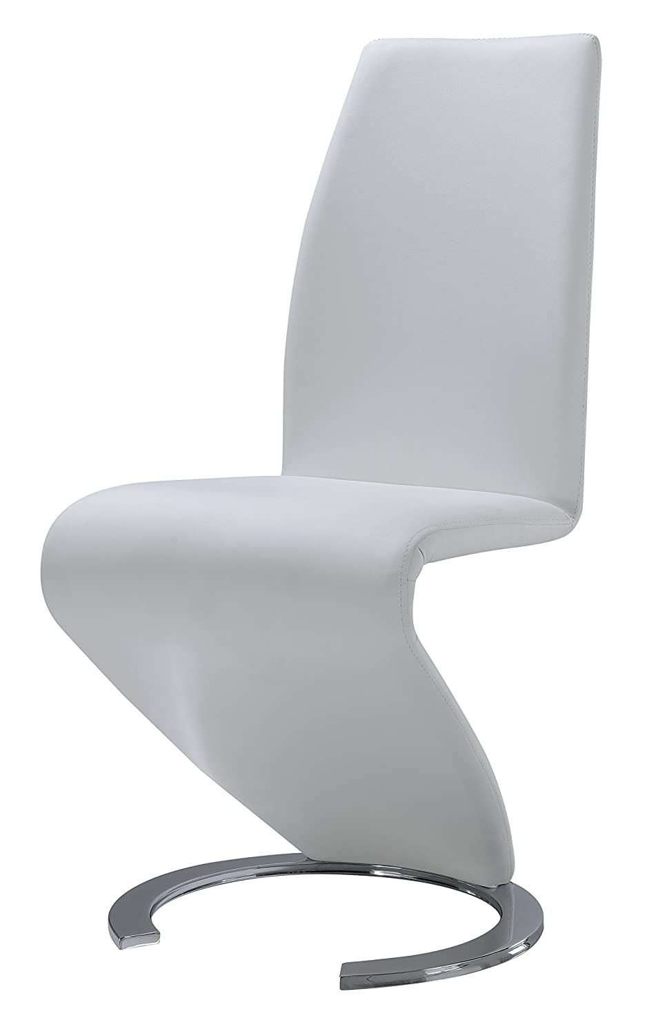 Amazoncom Global Furniture Dining Chair White PU Chairs - Leaky faucet bathroolearn leather dining room chairs on sale