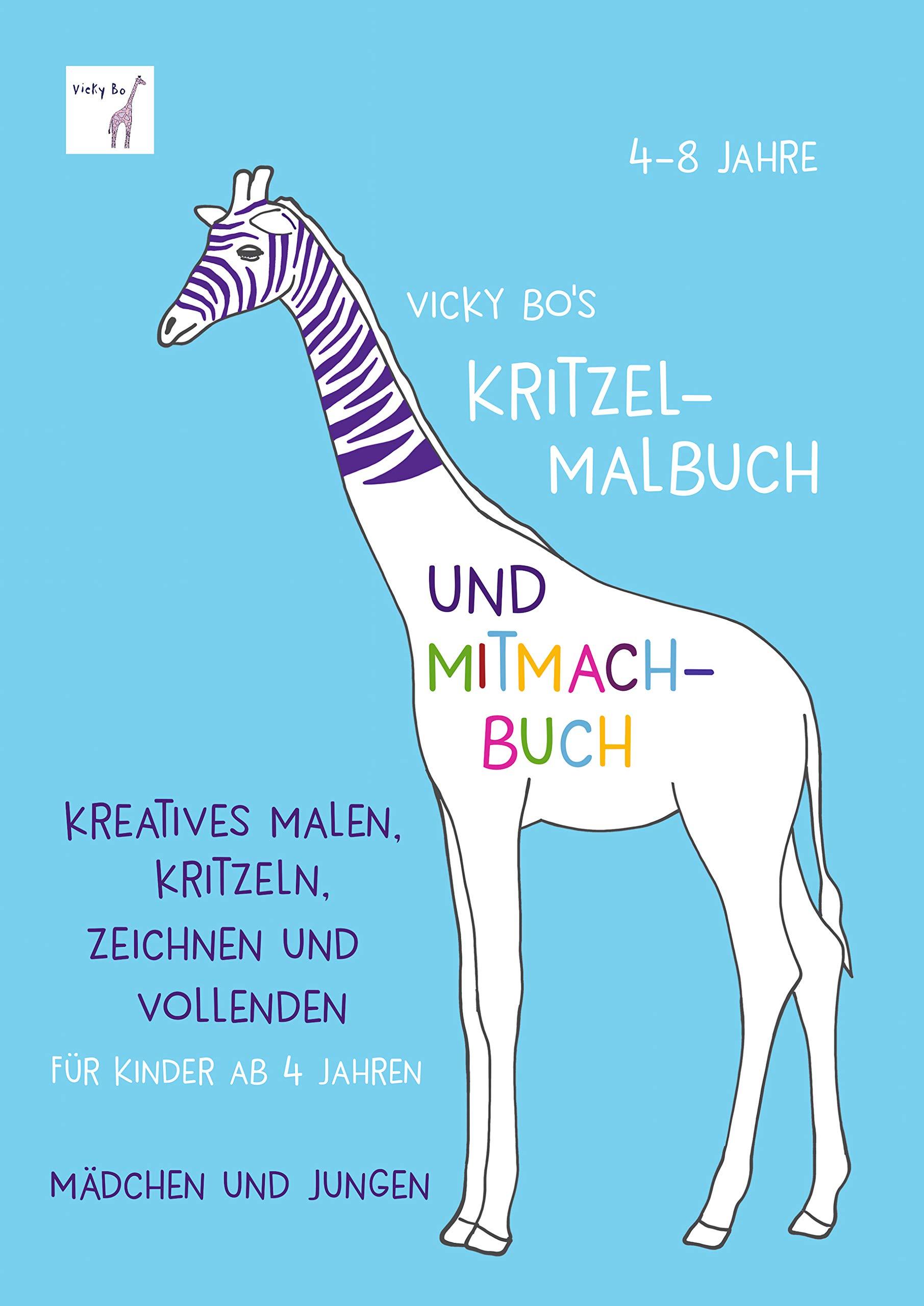 Kritzel Malbuch Und Mitmach Buch. 4 8 Jahre