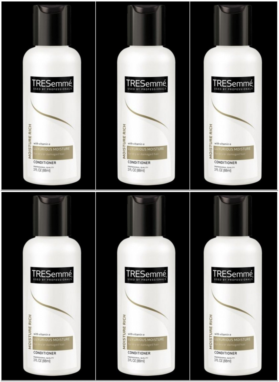 TRESemme Moisture Rich Conditioner 3 Oz Travel Size (Pack of 6)