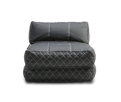Beau Gold Sparrow Austin Bean Bag Chair Bed, Black