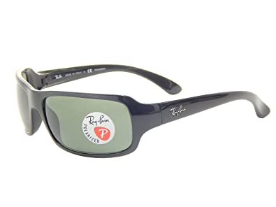 06df39f9fb5 Amazon.com  Ray-Ban RB4075 61mm Black Polarized Green Classic G-15 ...