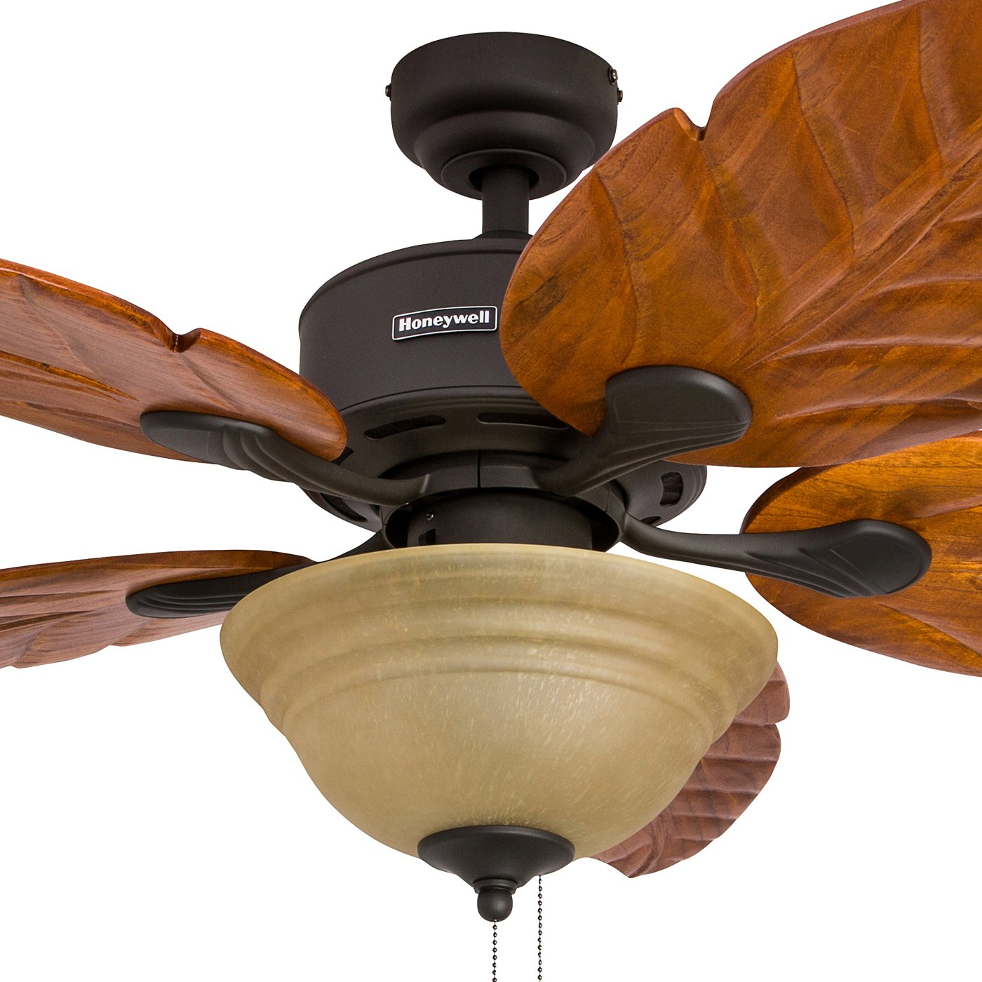 Honeywell Sabal Palm 52 Inch Tropical Ceiling Fan with Sunset Bowl