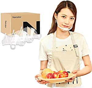 (10/30 pcs) Chef Mouth Shields Cooking Anti-Fog Transparent Mouth Shields for Skin Care Food Makeup Dental Plastic Restaurants Food Beauty Salons Catering Mouth Shields Open Mouth Shields (10)