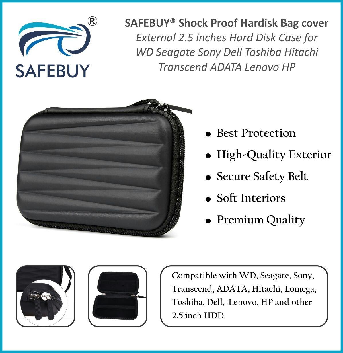 Buy Safebuy External Hard Disk Case 25 Inch Black Pouch Harddisk Online At Low Prices In India Safebuytm Reviews Ratings
