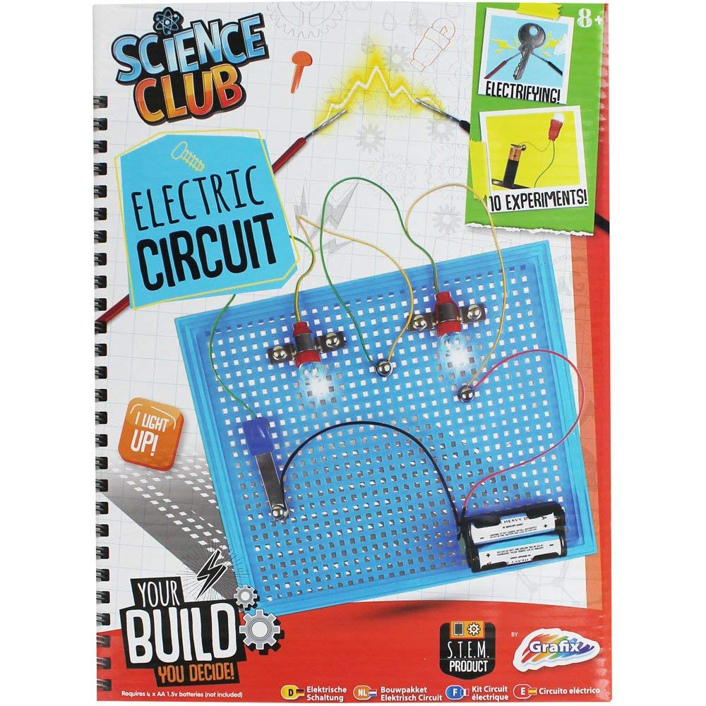Grafix Build Your Own Circuit Board Kit Kids Make Minecraft Electronic Electrical Science Set Stem Office Products