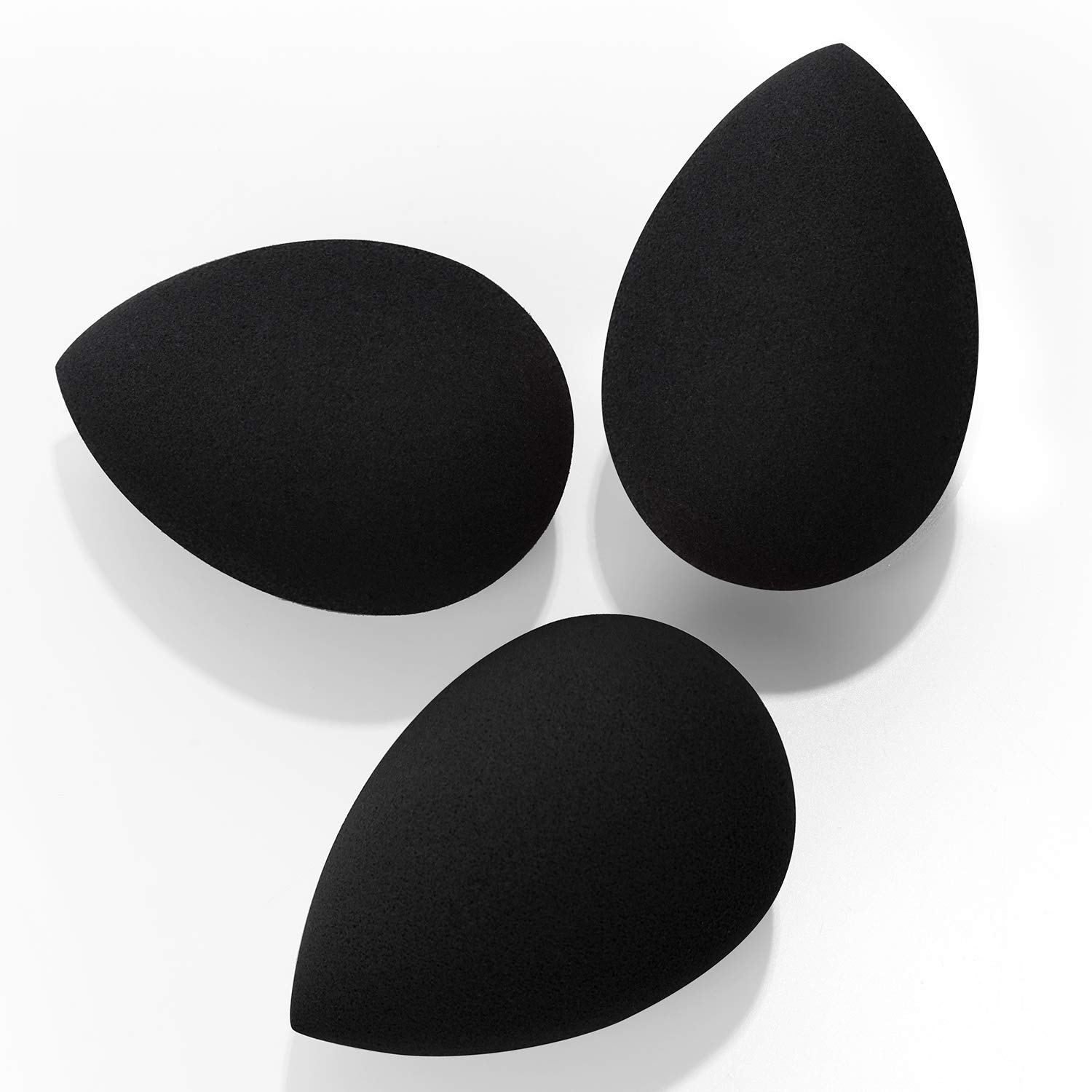 Makeup Sponges, Larbois 3-Pack Blender Beauty Foundation Blending Sponge, Professional Beauty Makeup Set for Dry & Wet Use (Drop, Black+Black+Black)