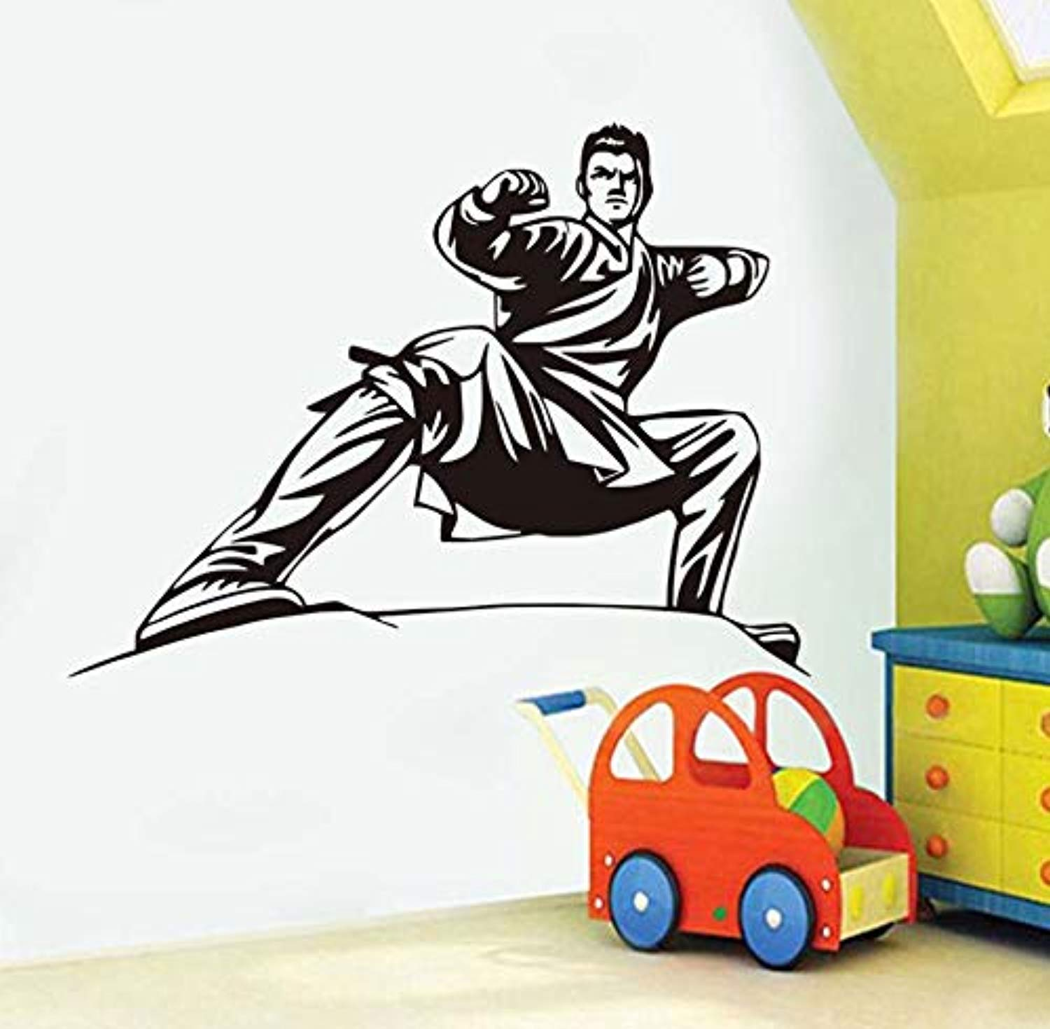 Removable Home Stickerized Colors Male Handsome Karate Stance for Kids Bedroom Headboard Decals Wall Decals Decor Vinyl Sticker Q17122 by Profit Decal