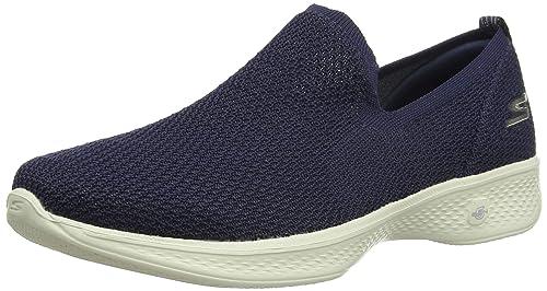Skechers Go Walk 4-Privilege, Zapatillas sin Cordones para Mujer: Amazon.es: Zapatos y complementos