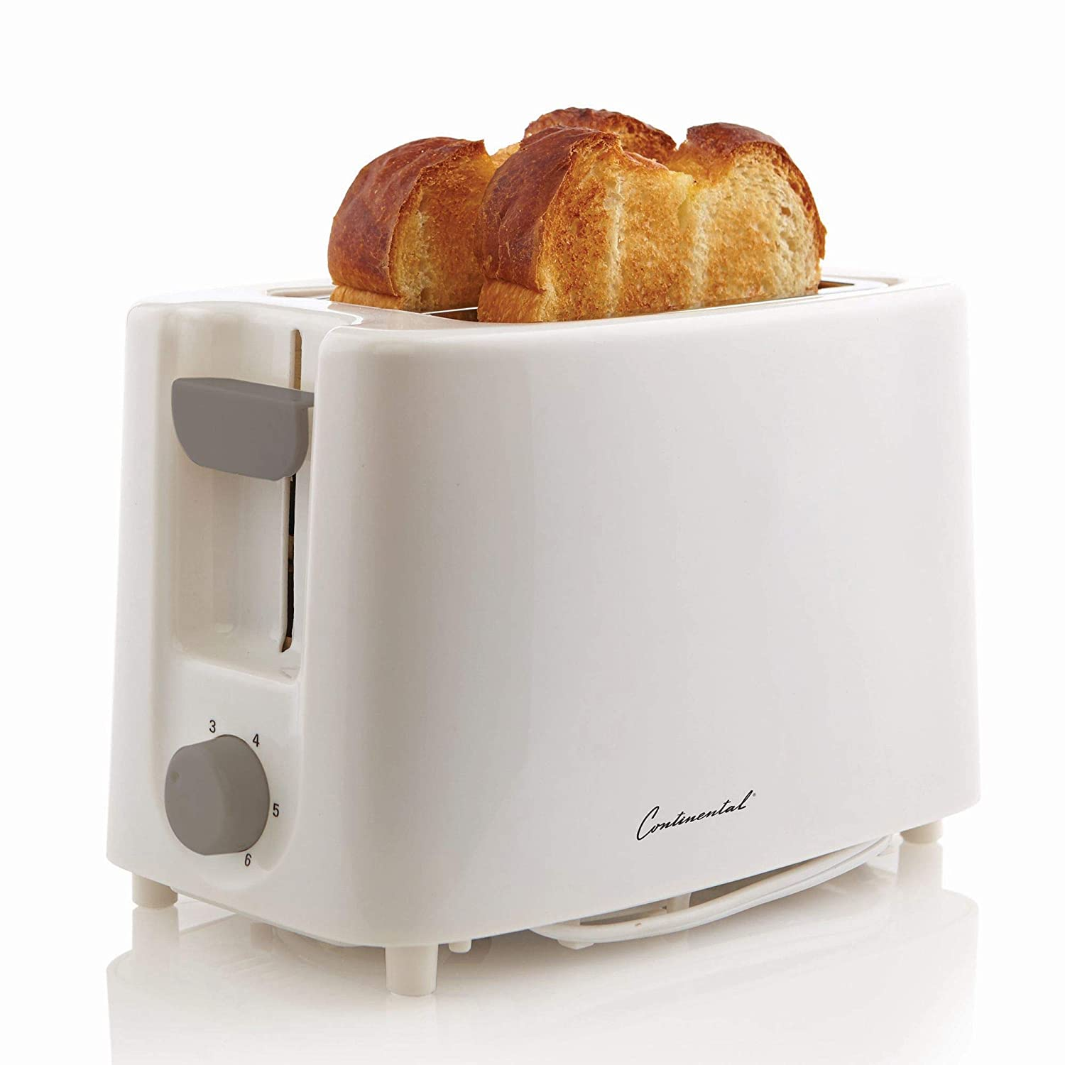 Continental Electric CE-TT011 Electric Toaster, 2 Slice, White