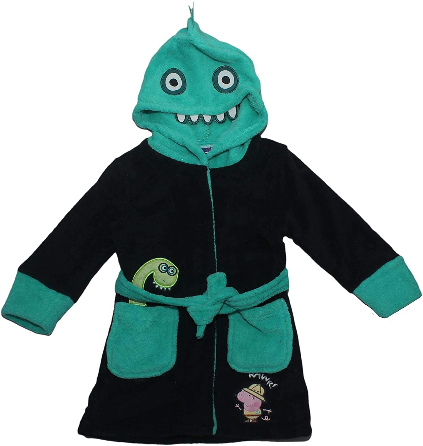 GEORGE PIG Peppa Pig Safari Dressing Gown with Dinosaur Hood
