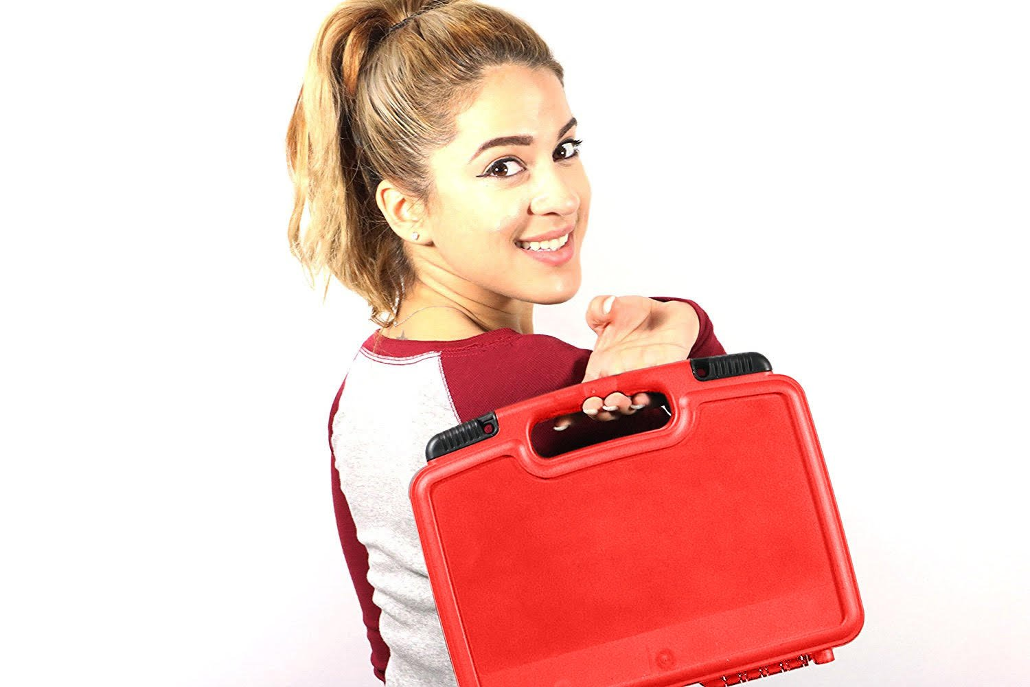 Life Made Better Storage Organizer - Compatible with Tascam DR-05, DR-40, DR-22L, DR-100MKll, DR-44WL Portable Recorder And Accessories- Durable Carrying Case - Red by Life Made Better