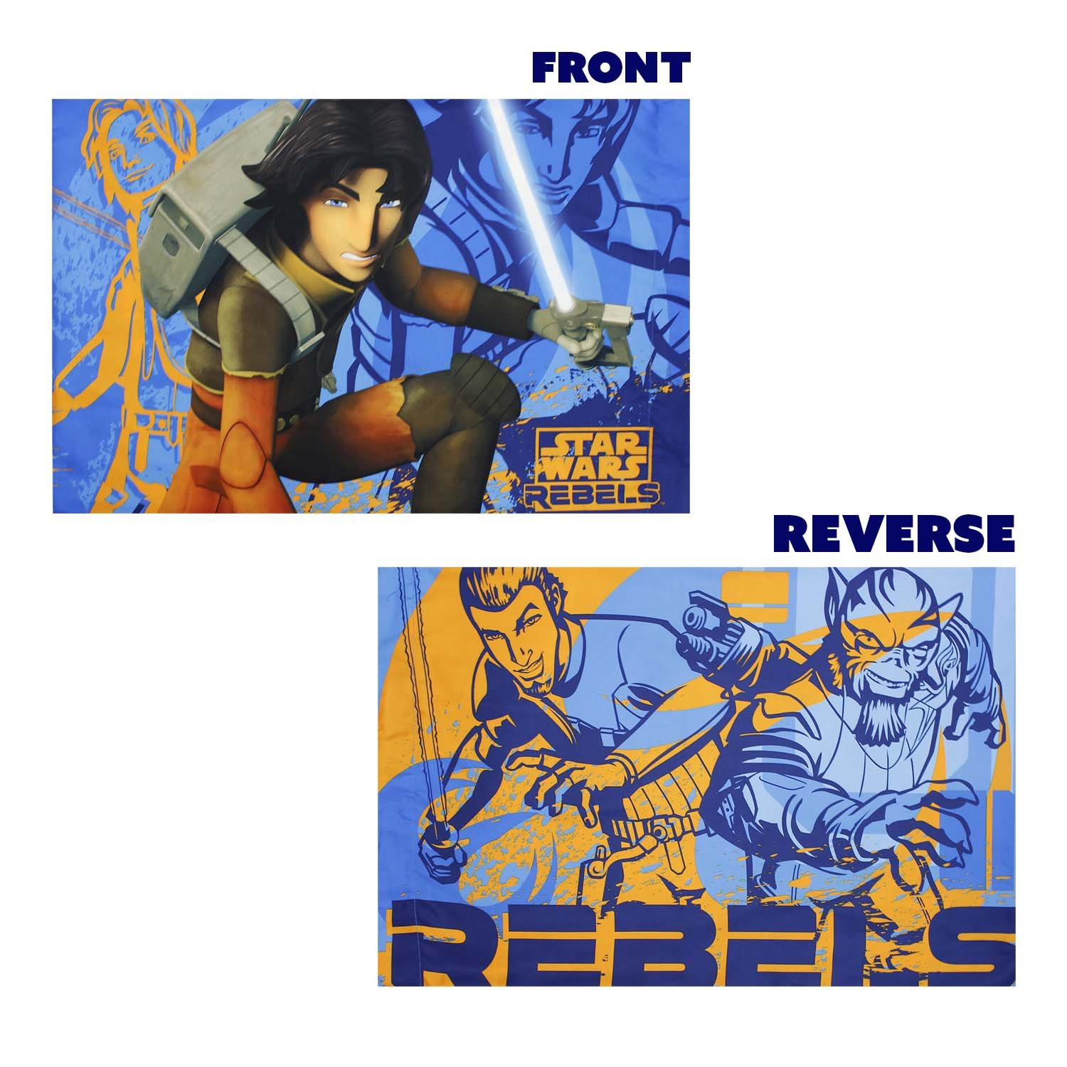 8pc Star Wars Twin Bedroom Set Rebels Fight Comforter Sheets and Window Panels with Tie-Backs by Disney (Image #5)