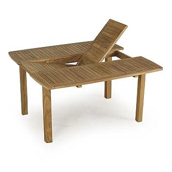 Atrium Table rectangulaire avec rallonge papillon Naturel - Alinea ...