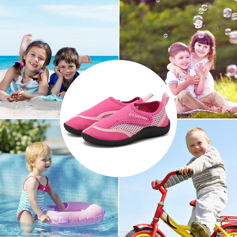 CIOR Fantiny Toddler Boy & Girls' Water Aqua Shoes Swimming,DNDDKSX,03Pink,28 by CIOR (Image #6)