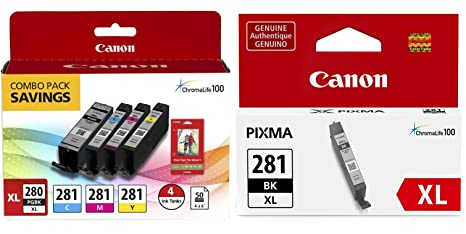 Amazon.com: Original de Canon pgi-280 XL/cli-281 4-Color ...