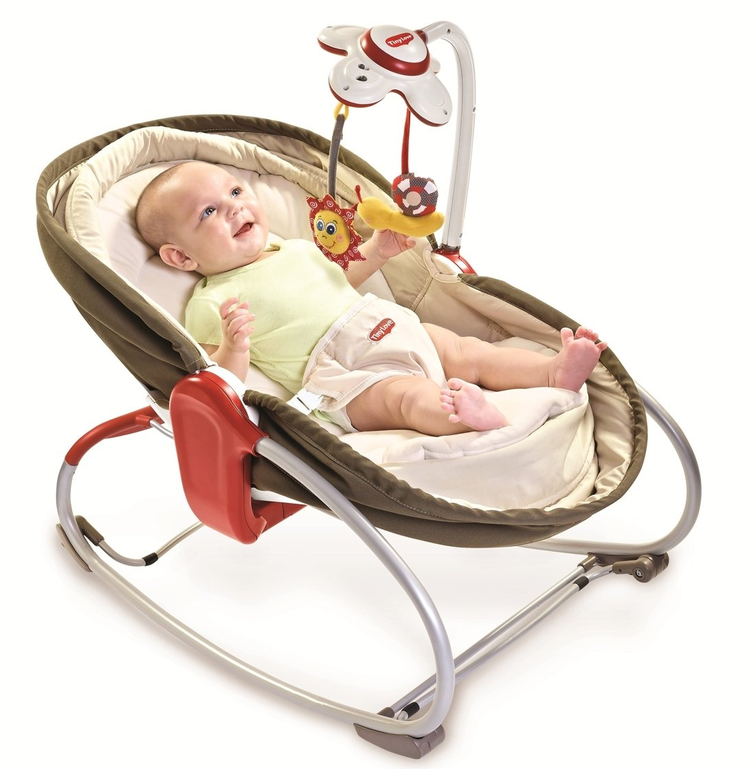Electric baby rocker chair - Amazon Com Tiny Love 3 In 1 Rocker Napper Brown Infant Bouncers And Rockers Baby