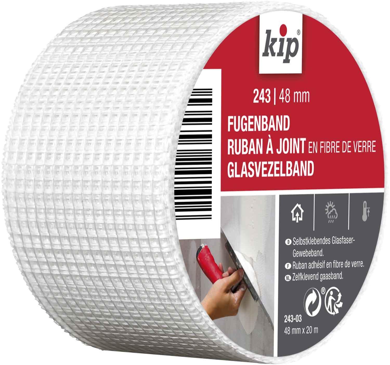 Kip 243-03 Fibreglass Joint Tape for filling cracks and repairing cracks and joints, white Kip GmbH