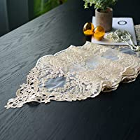 SUTAVIA Lace Table Runner Embroidered Dresser Scarf, Classic Rectangular Macrame Tablerunner,for Kitchen Dining Picnic…