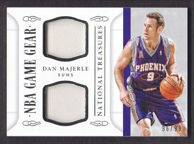 befec44e166 2014-15 Panini National Treasures Basketball NBA Game Gear Duals #DM Dan  Majerle Jersey /99 at Amazon's Sports Collectibles Store