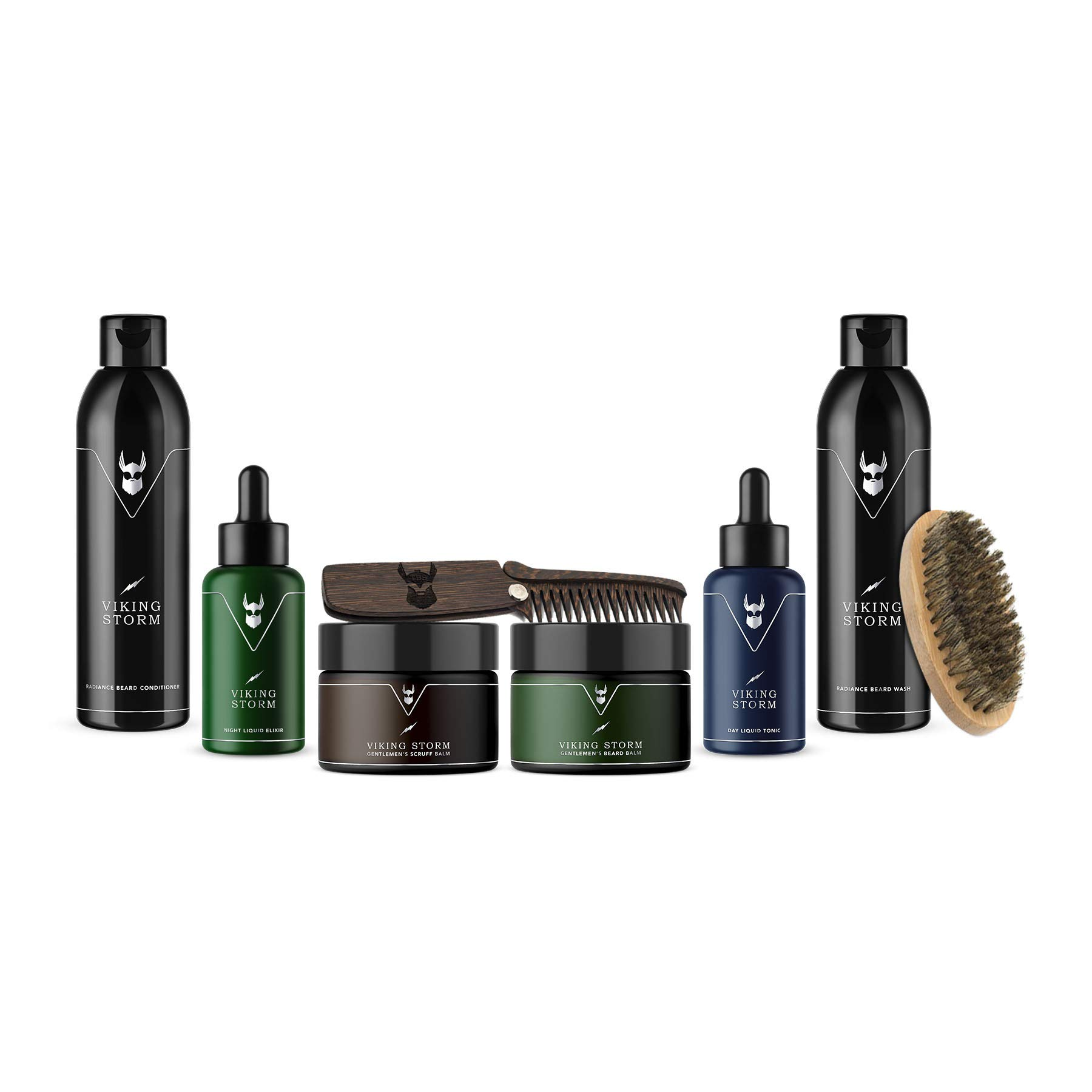 The Beard Struggle Ultimate Kit Viking Storm for Men & Beard Care W/Beard Wash/Shampoo/Conditioner/Night oil/Day oil,100% Natural & Organic