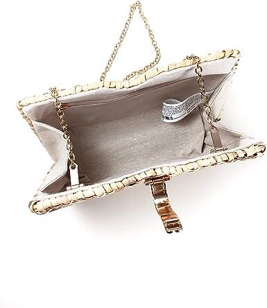 Zara 1680304 Bolso para mujer (diseño de rafia minaudière
