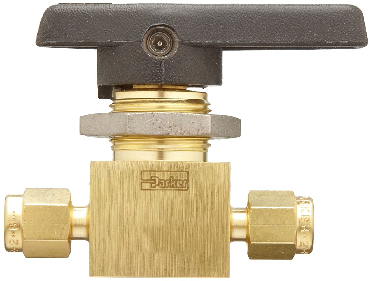Parker MB Series Brass Ball Valve Inline 1//4 CPI Compression Fitting 1//4 CPI Compression Fitting Parker Hannifin 4Z-MB6LPFA-BP